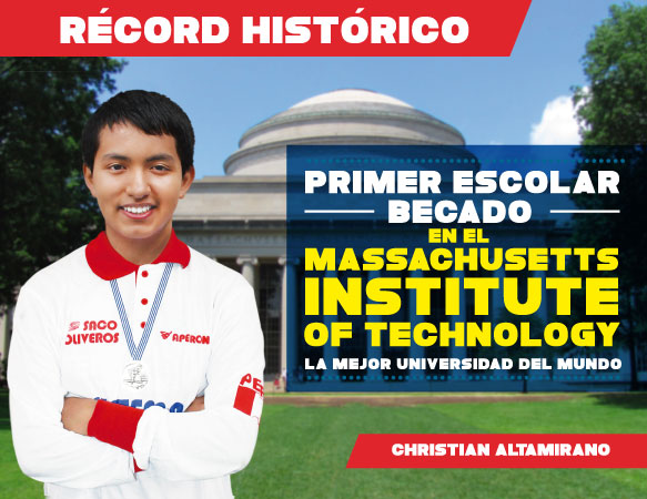 Primer escolar Becado en el Massachusetts Institute of Technology