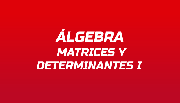 Álgebra: Matrices y Determinantes I